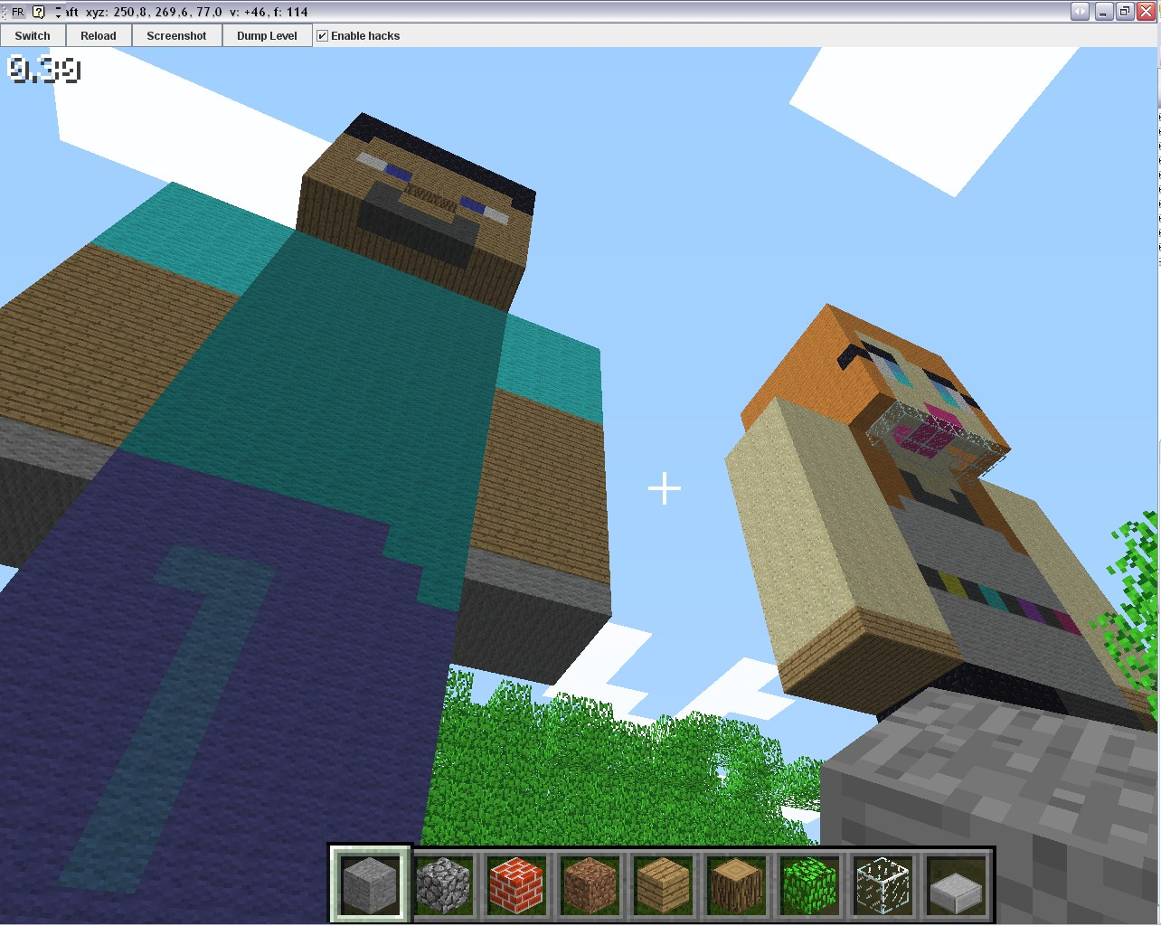Tapis Colore Minecraft