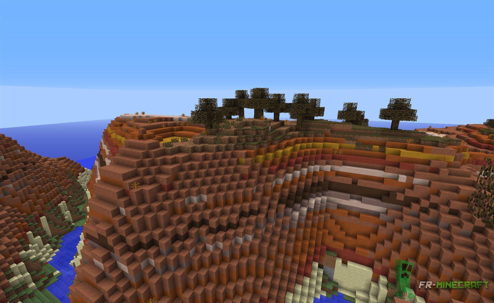 minecraft biome plateau forestier du canyon. Black Bedroom Furniture Sets. Home Design Ideas
