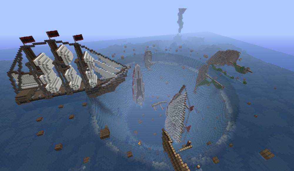 Minecraft  Map Minecraft  Lost In Bermuda Triangle
