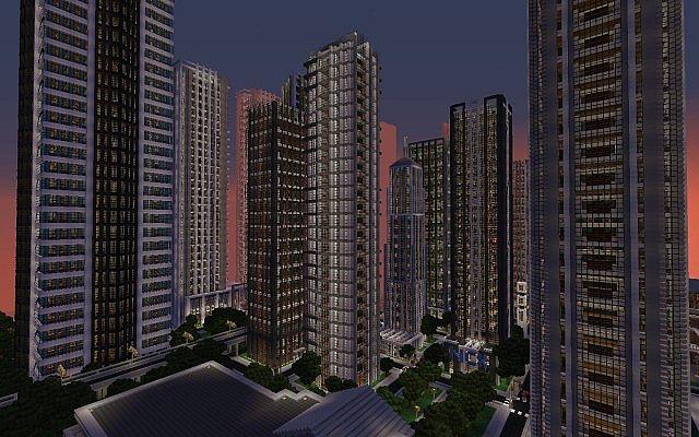 Minecraft map minecraft new crafton for Ville super moderne