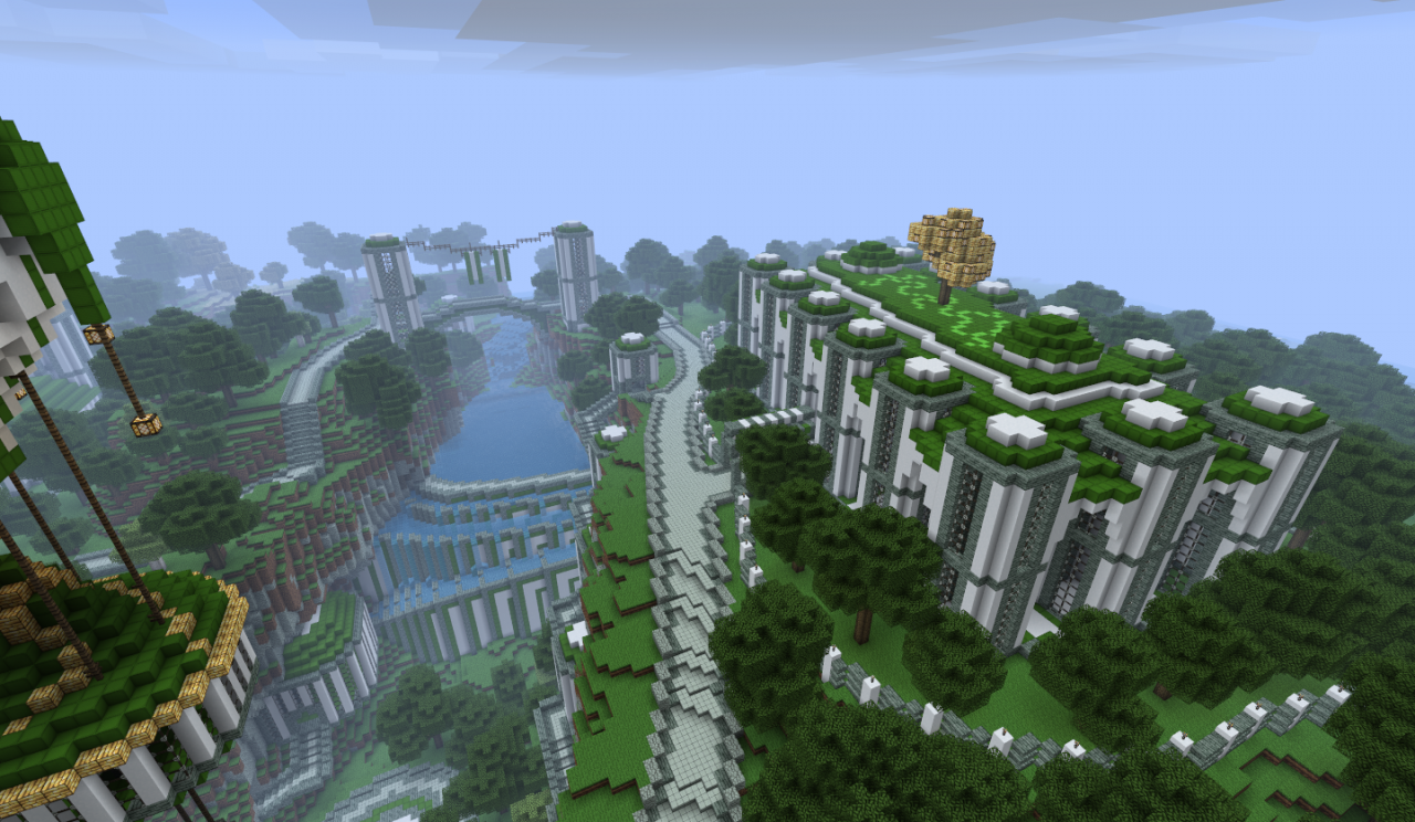 minecraft map minecraft   paradise palace