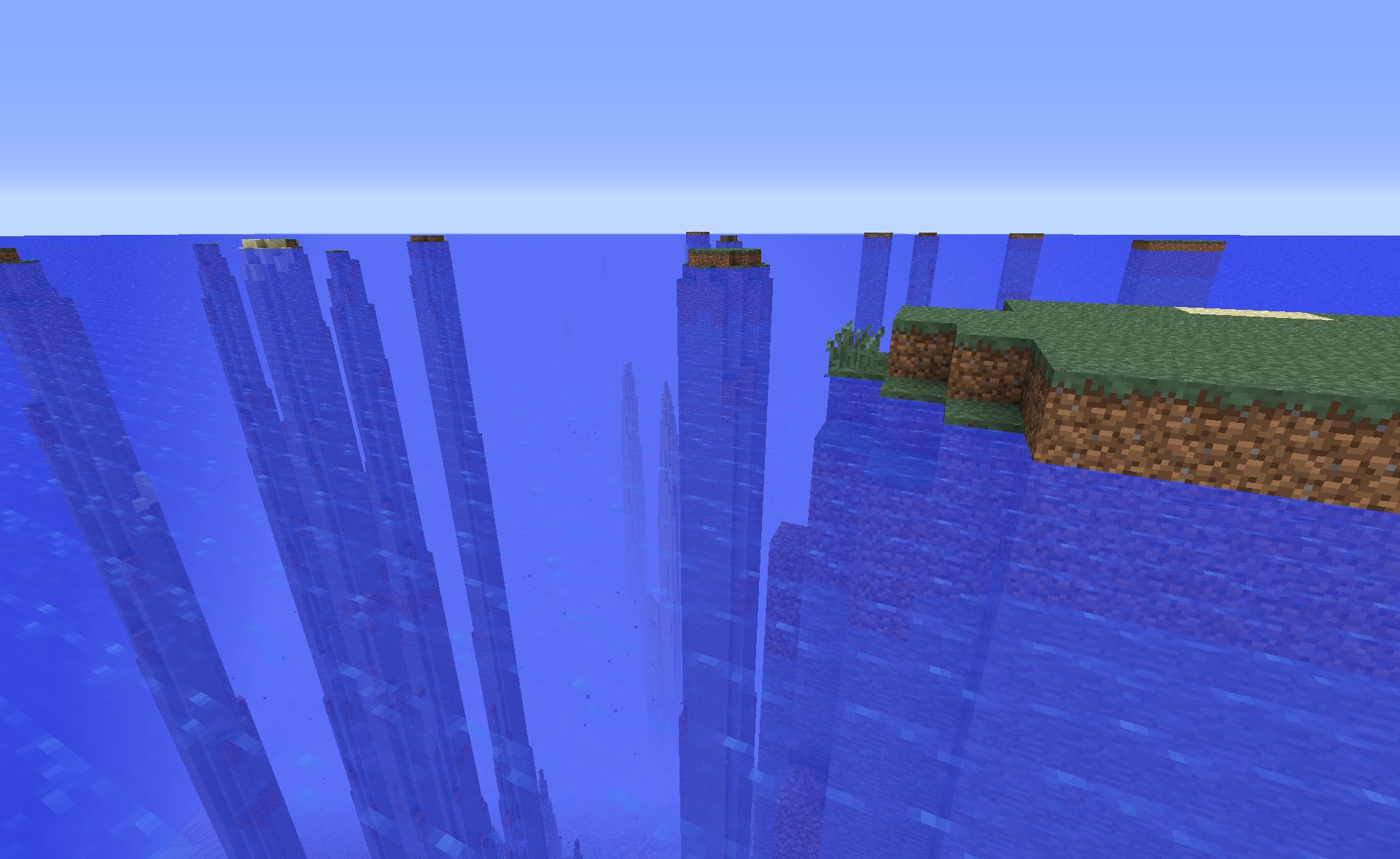 Minecraft Preset de monde Custom Minecraft : Monde aquatique