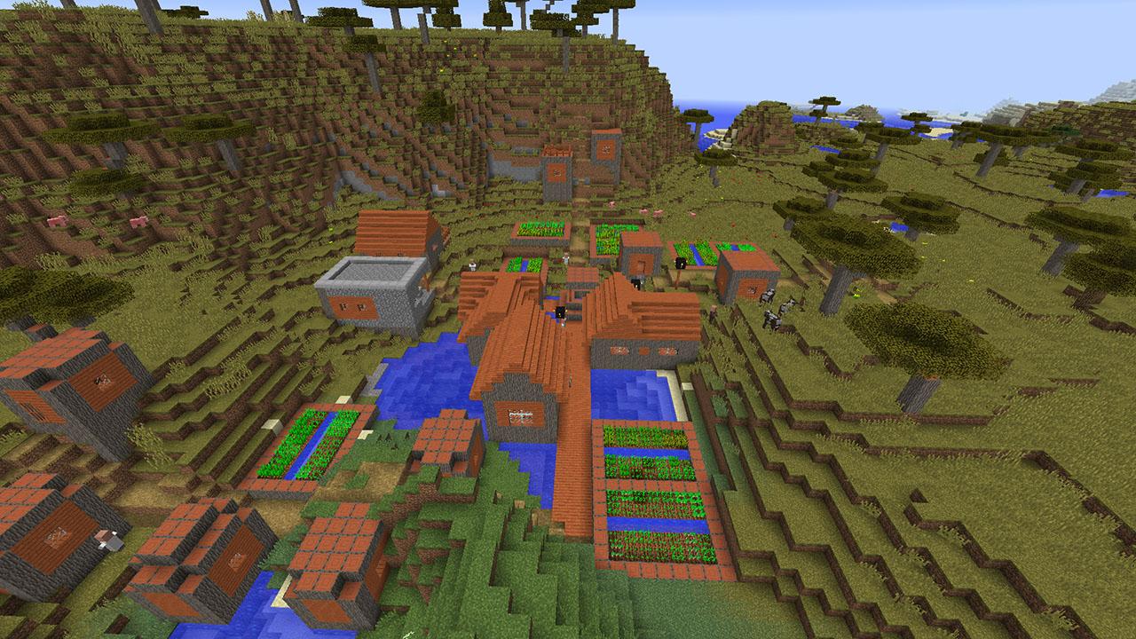 Bien-aimé Minecraft : Seed Minecraft : Manoirs, villages et mine abandonnée BV23
