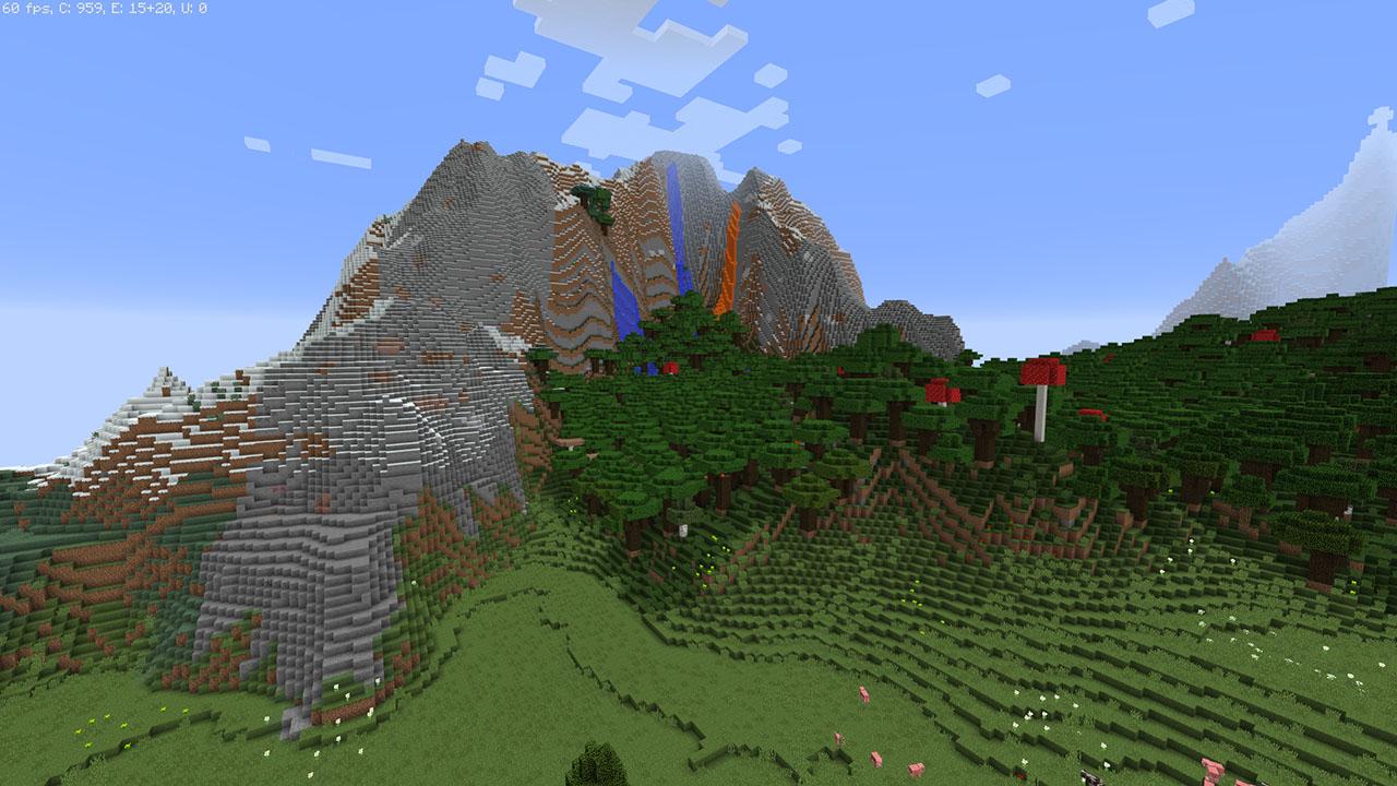 Monde Minecraft Ville