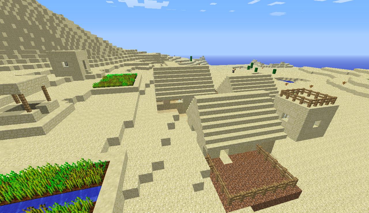 minecraft seed minecraft   village du desert