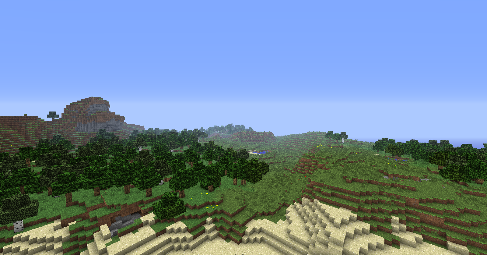 Minecraft seed minecraft un excellent terrain de construction for Terrain construction
