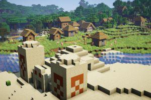 Village et temple du désert
