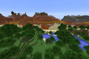 Forêt entourée d'un biome Mesa