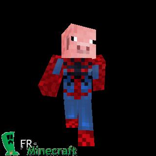 Minecraft skin minecraft spider cochon - Minecraft cochon ...