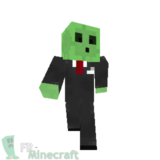 Slime face minecraft skin
