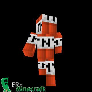 Worksheet. Minecraft  Skin Minecraft  TNT man