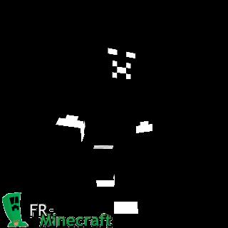 Minecraft Skin Black And White