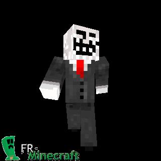 Minecraft Skin Minecraft Troll Face - Skins para minecraft pe de troll