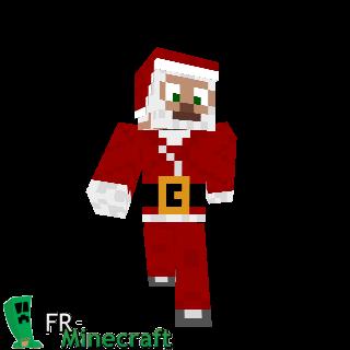 Minecraft : Skin Minecraft : Papa Noël