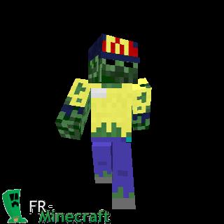 Minecraft skins et habillages minecraft for Cuisinier zombie
