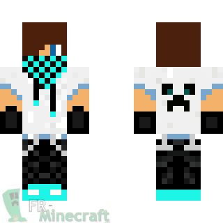 Skin Minecraft : Skater boy (bleu)