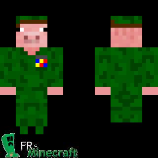 Minecraft skin minecraft cochon militaire - Minecraft cochon ...