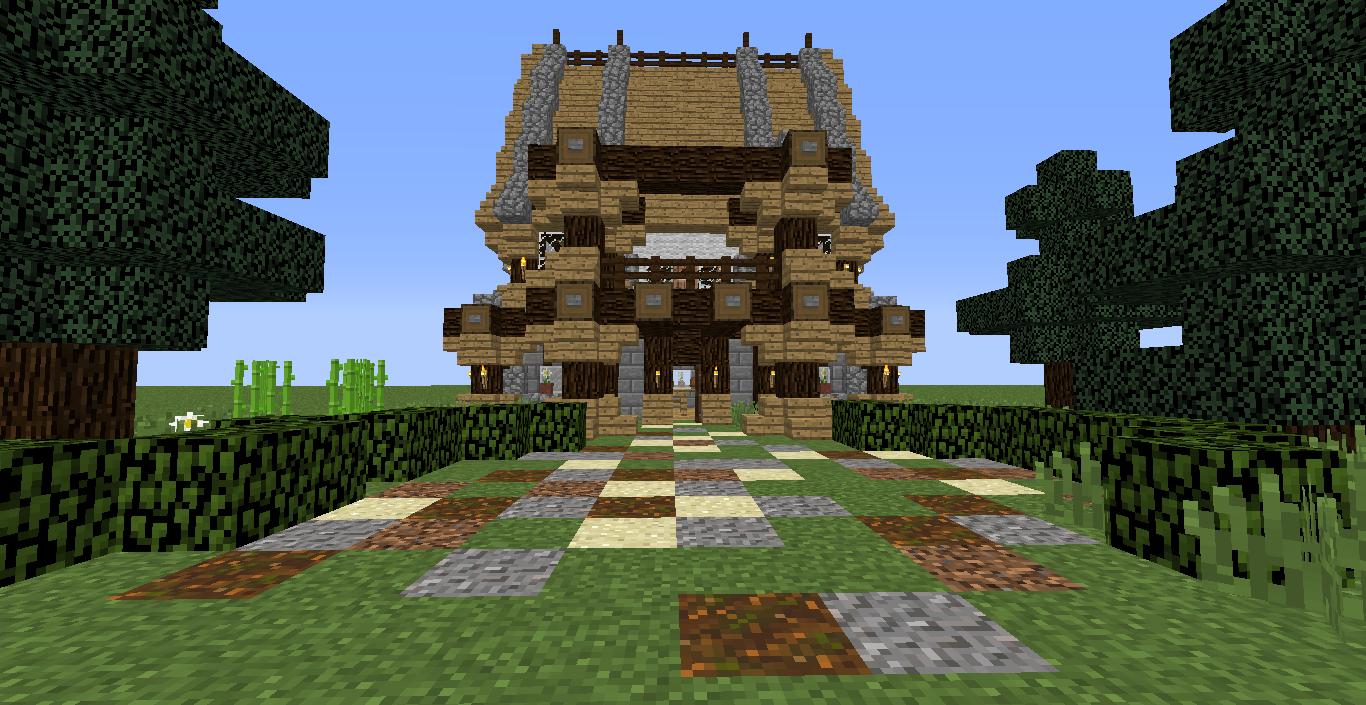 minecraft structure minecraft maison am nag e. Black Bedroom Furniture Sets. Home Design Ideas