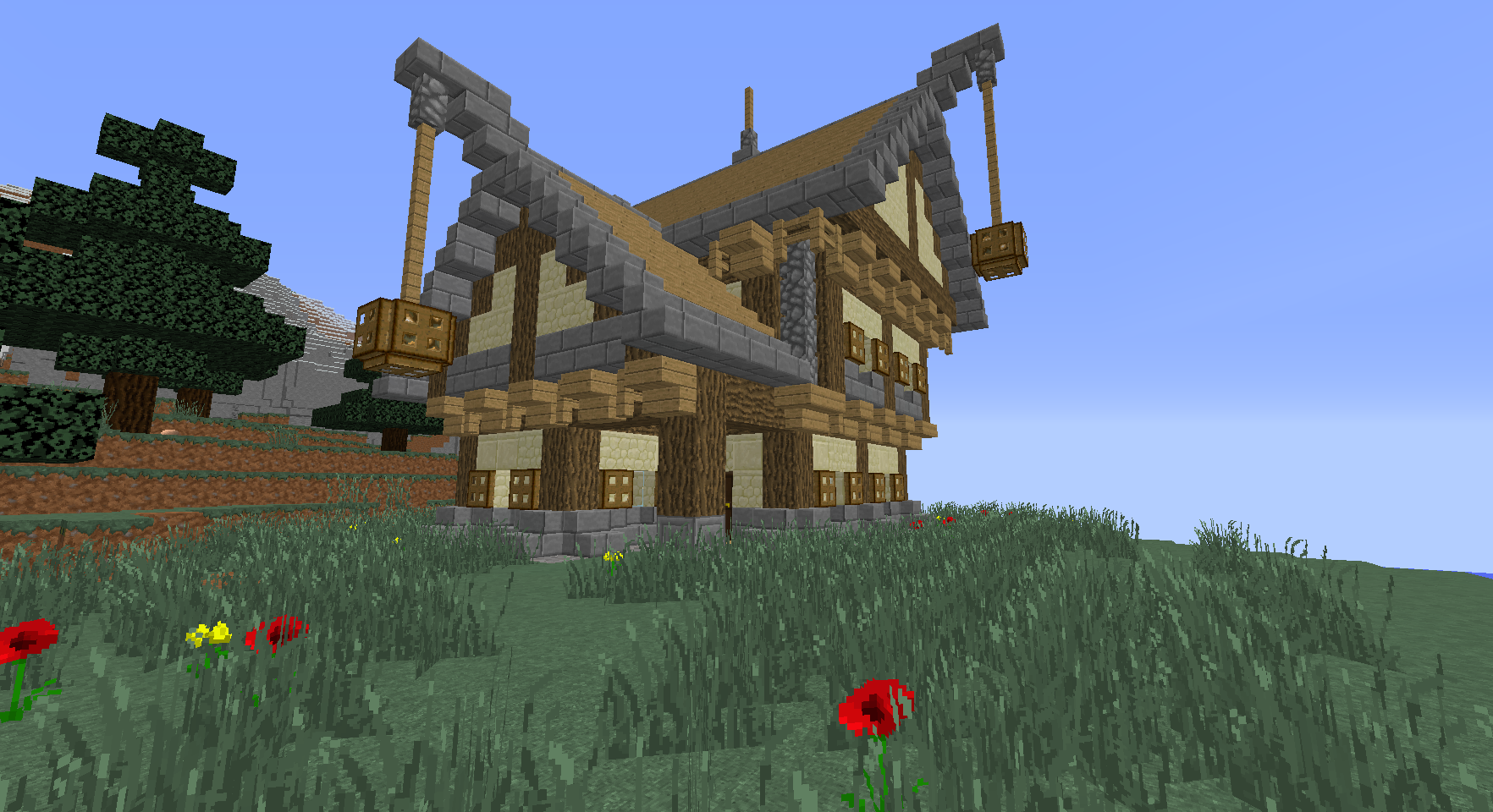Minecraft Maison Medieval Big Medieval House Pour Minecraft