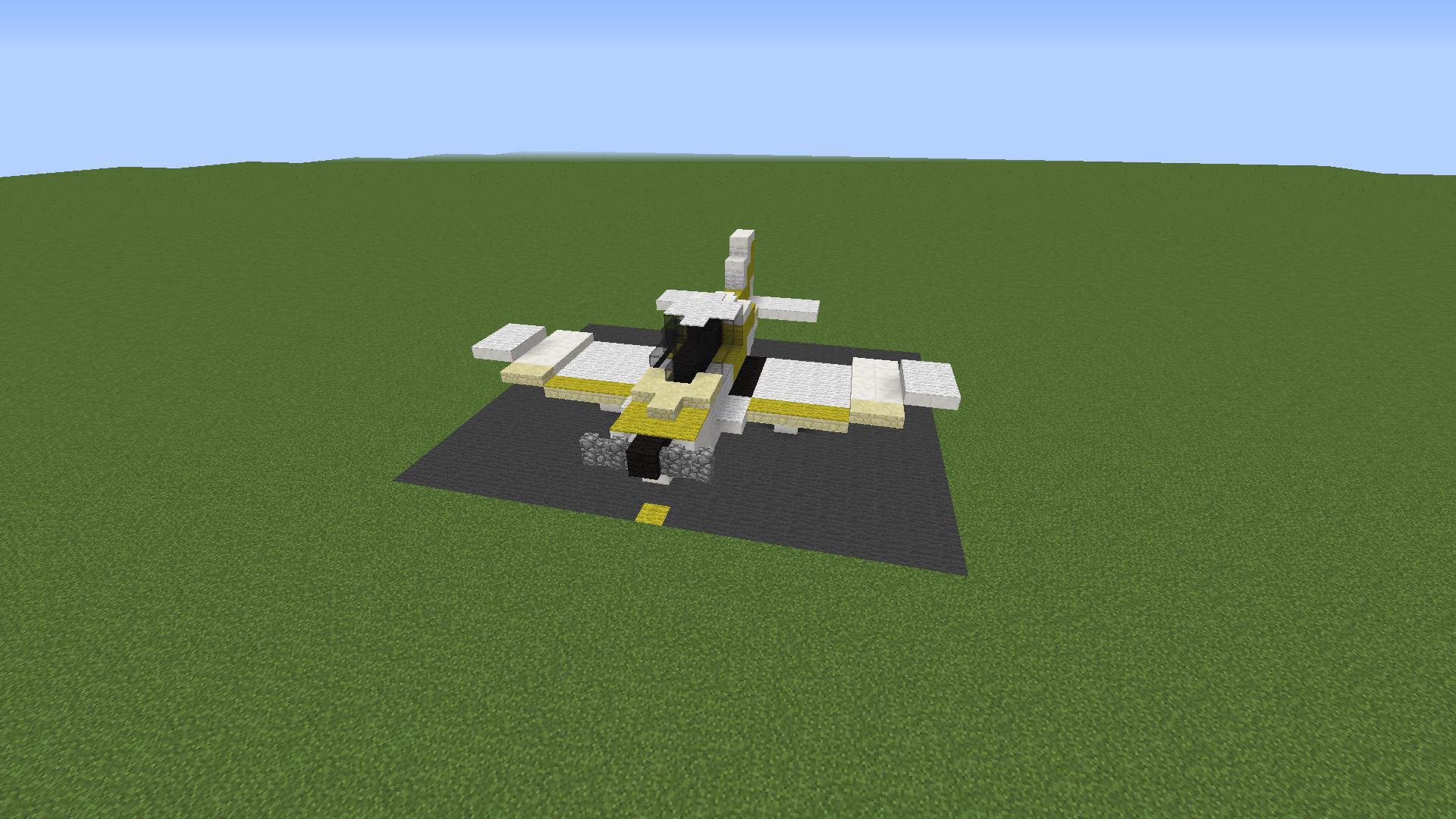 Minecraft : Structure Minecraft : Avion Robin RB400