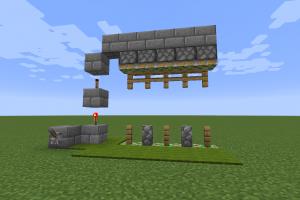 Porte verticale avec redstone
