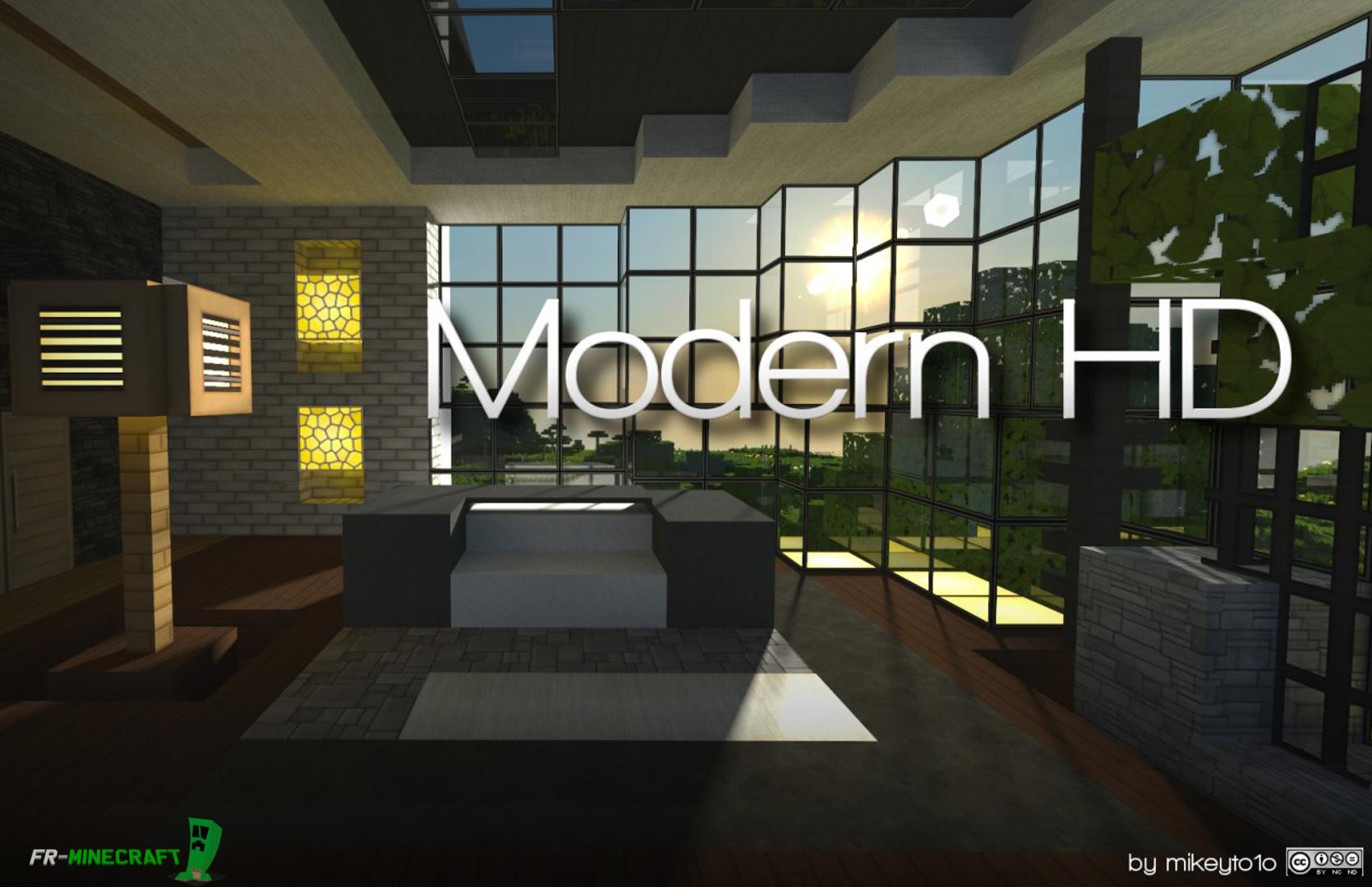 Minecraft maison tr s moderne maison moderne for Maison tres moderne