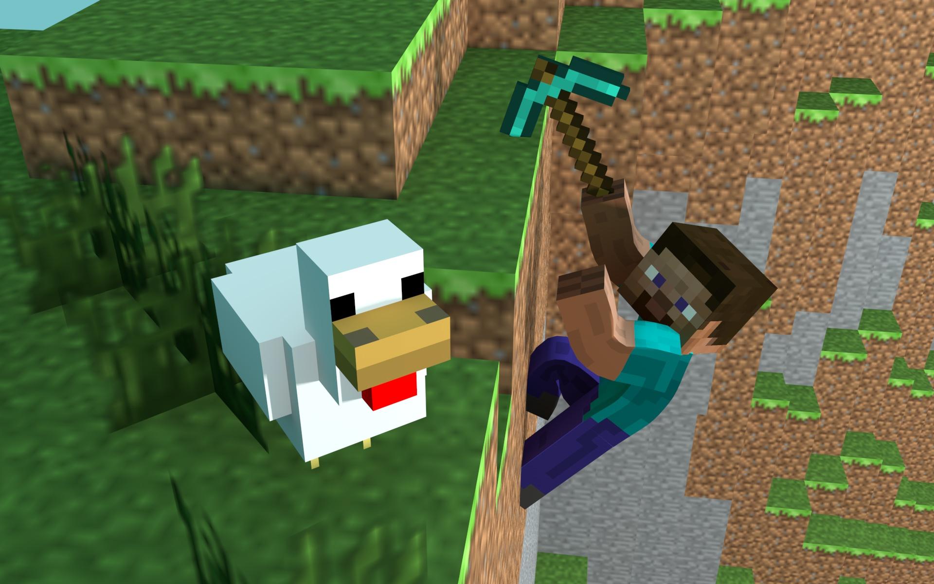 Minecraft fond d 39 cran minecraft - Poule minecraft ...