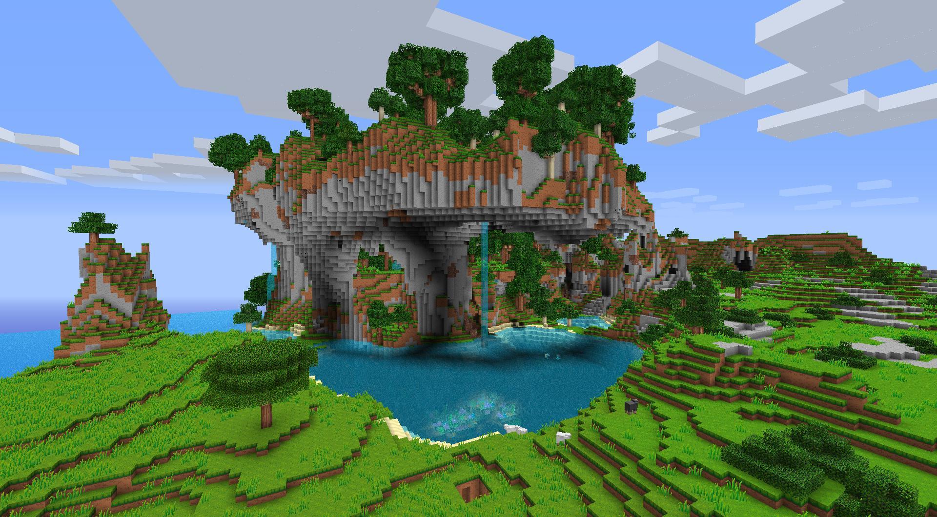 Minecraft fond d 39 cran minecraft for Fond ecran casa de papel