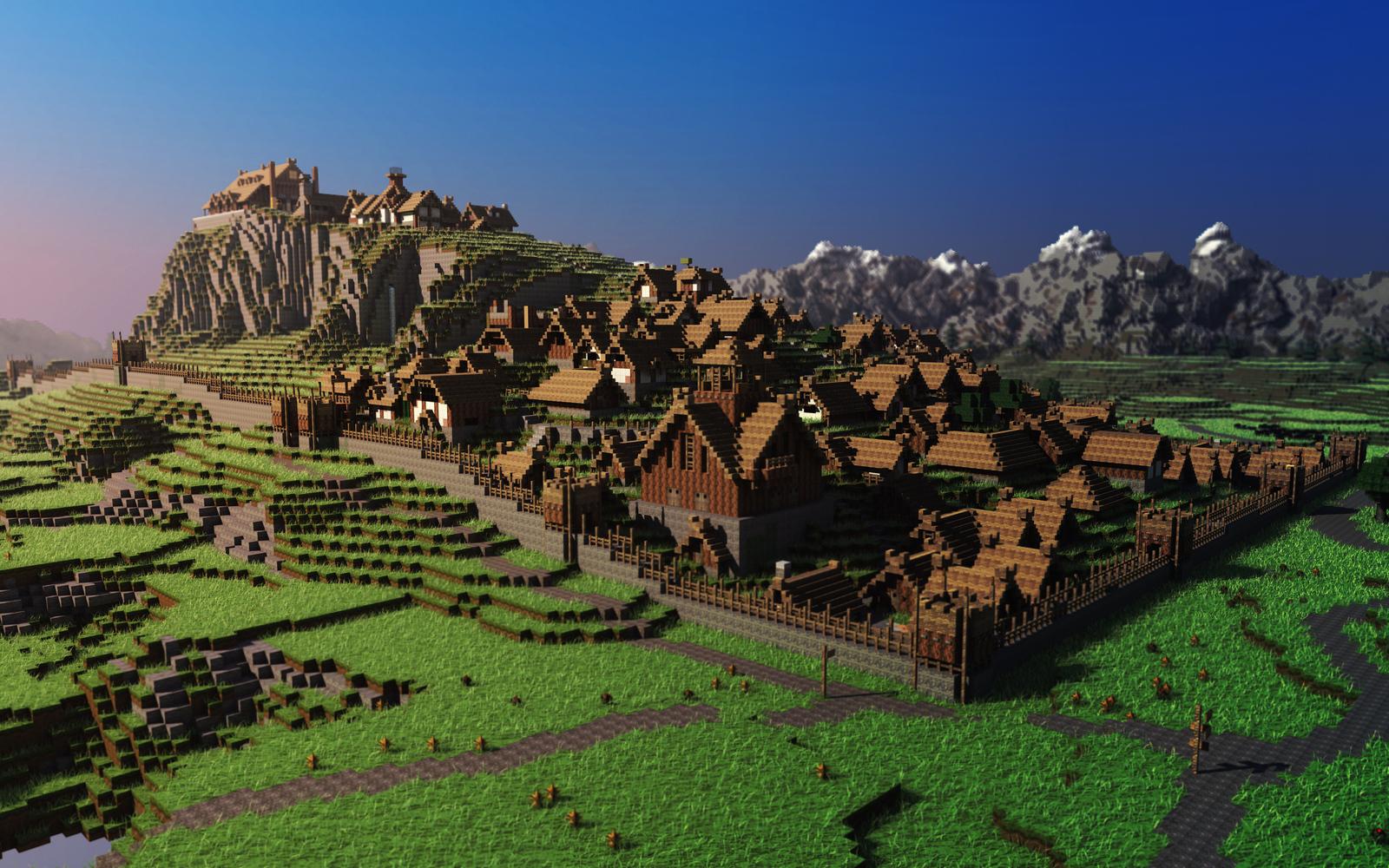 Minecraft fond d 39 cran minecraft for Fond ecran ps4