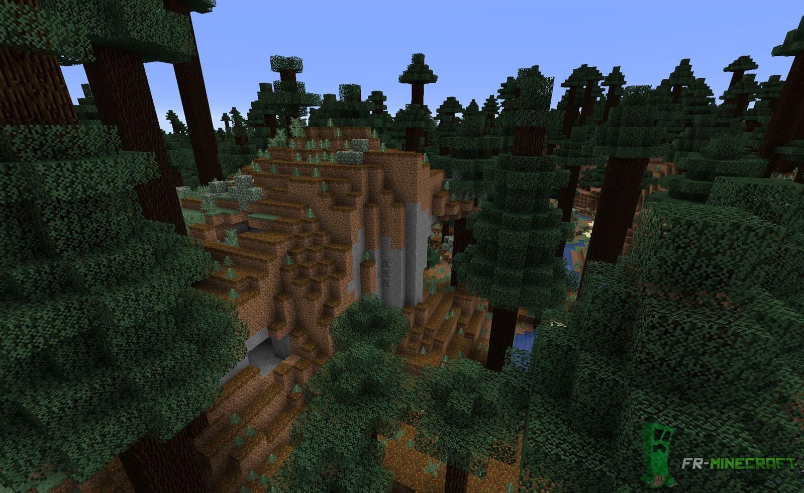 minecraft biome collines de ta ga grands arbres. Black Bedroom Furniture Sets. Home Design Ideas