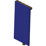 Blue Standing Banner<br>
