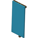 Light Blue Standing Banner<br>