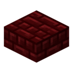 Dalle en briques rouges du Nether<br>