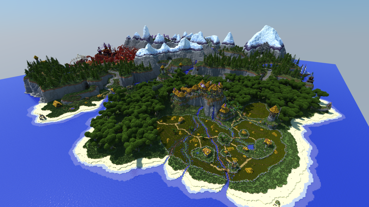 карты для майнкрафт острова #4