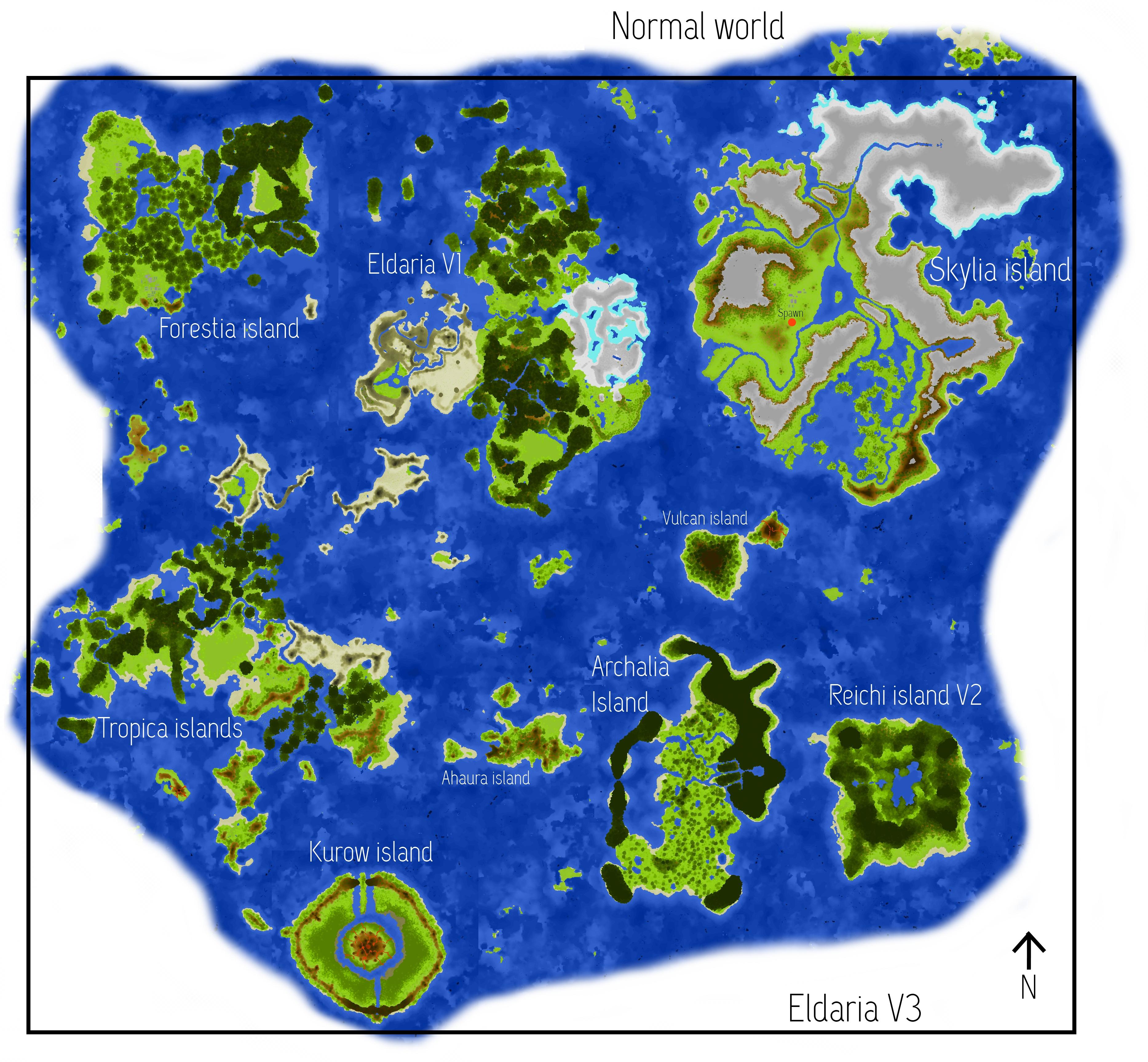 Eldaria Island V Survival Map For Minecraft