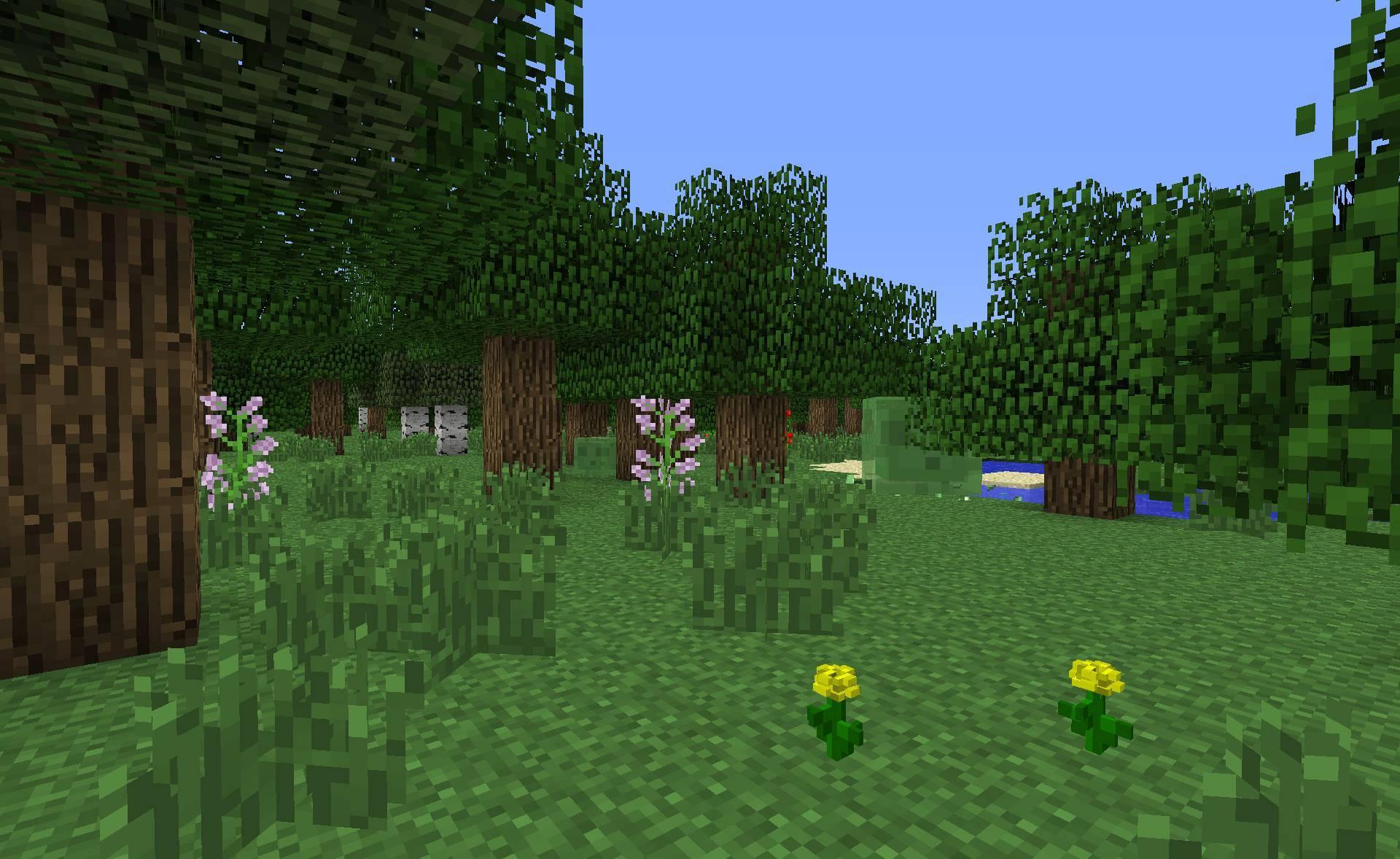 Minecraft Preset de monde Plat Minecraft : Forêt plate
