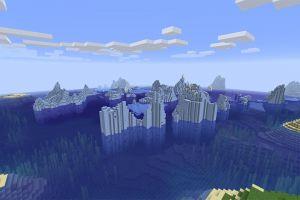 Icebergs et île champignon
