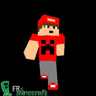 Garçon T-shirt creeper rouge et casquette