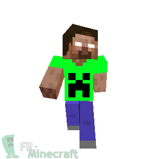 Herobrine T-shirt creeper