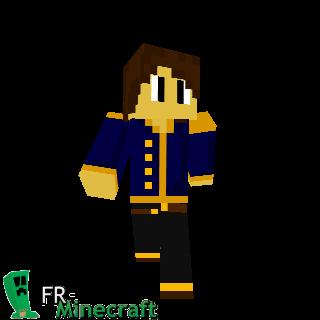 Garçon habit bleu doré