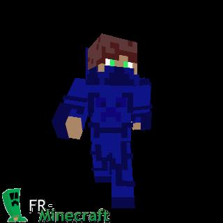 Garçon en armure bleue motif creeper