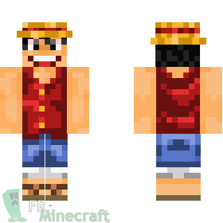 Aperçu de la skin Minecraft Capitaine Monkey Luffy - One Piece