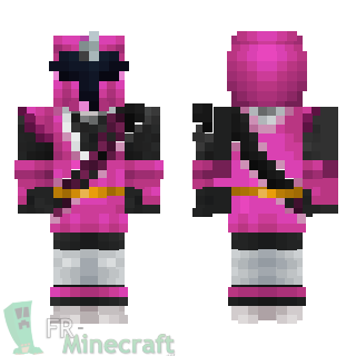 Aperçu de la skin Minecraft Ninja steel rose - Power rangers