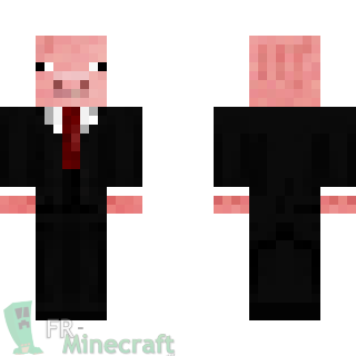 Minecraft skin minecraft cochon en costume - Minecraft cochon ...