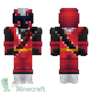Aperçu de la skin Minecraft Ninja steel rouge - Power rangers