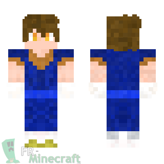 Aperçu de la skin Minecraft Vegeto - Dragon Ball Z
