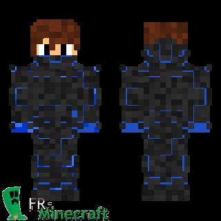 Minecraft Skin Minecraft : Nano Armure Bleue