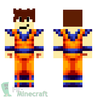 Aperçu de la skin Minecraft Super Guerrier - Dragon Ball