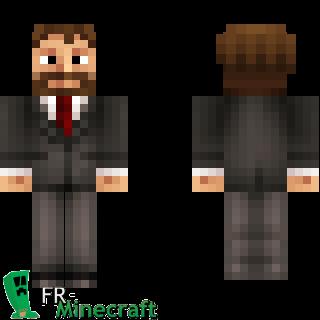 Aperçu de la skin Minecraft Homme barbu en costume cravate  sc 1 st  FR-Minecraft & Minecraft Skin Minecraft : Homme barbu en costume cravate