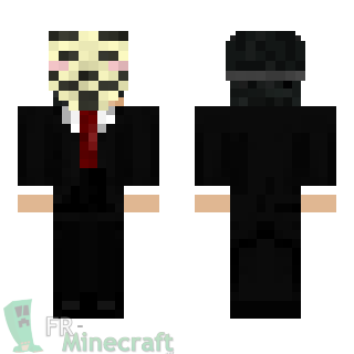 Aperçu de la skin Minecraft Anonymous